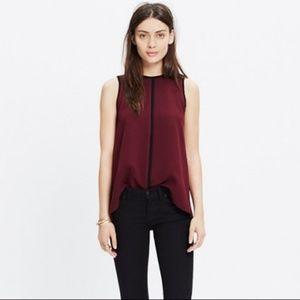 Madewell burgundy sleeveless top